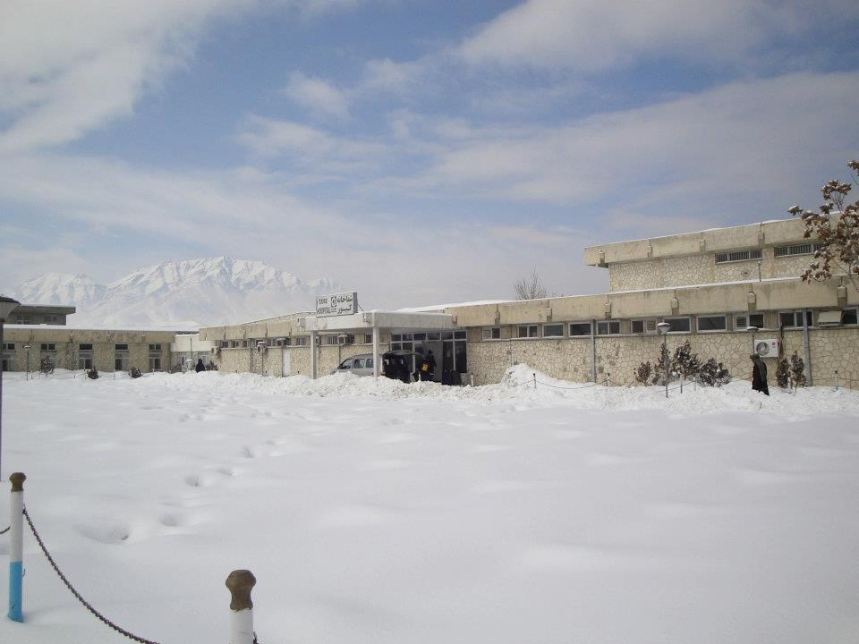 CURE Afghanistan in March 2012. There's a lot of snow on the ground.