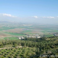 Megiddo and the land surrounding Mt. Carmel in northern Israel