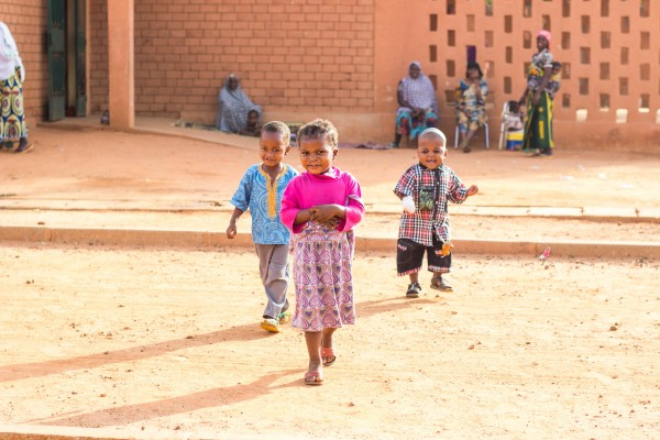 Niger hospital. Three of the beautiful children we have served there.