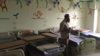 The boy's ward in the Tebow CURE Hospital