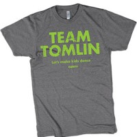 Join team tomlin and help kids dance cure for I support two teams t shirt