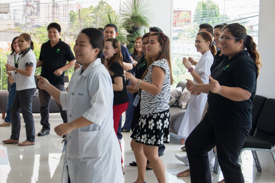 How do we celebrate birthdays at Tebow CURE Hospital? With a staff flash mob, of course!