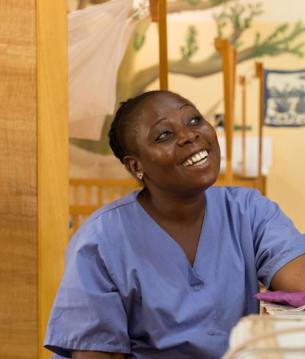Afia works in the kids ward. Her smile is contagious!
