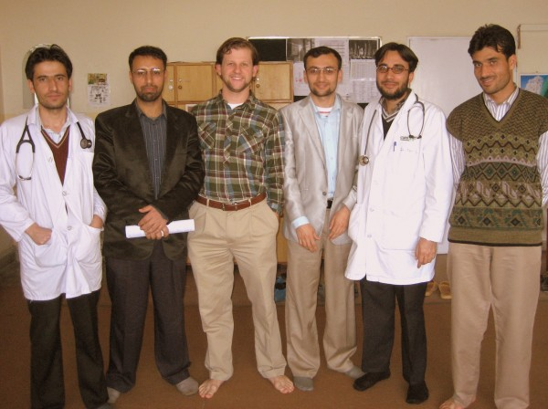 Nick with a group at CURE Afghanistan