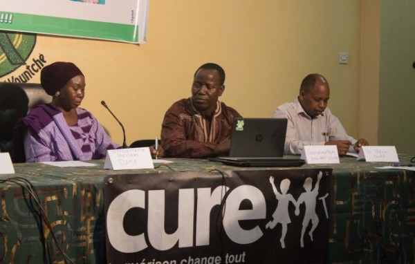 Dr. Mele Djalo, the representative of Niger's First Lady, Dr. Malika Issoufou, Moutari Malam-Saddi CURE's Clubfoot Coordinator, and Dr. Theuri.
