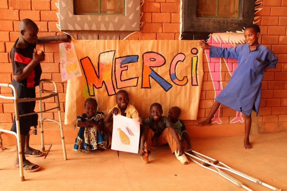 """Thank you"" from kids at CURE Niger"