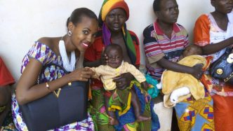 Miss Burundi 2016 Ange Bernice INGABIRE visits babies with congenital Clubfoot Clinic at CNAR Gitega (Autosaved)