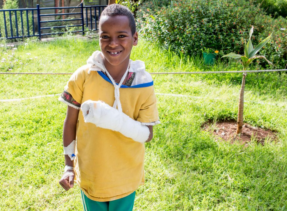Getachew was so happy with his procedure that he wanted a picture of himself in this beautiful sunshine!