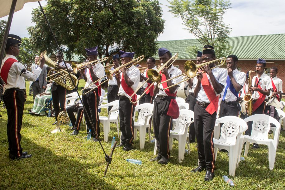 The Boy's Brigade brass band gave us beautiful music to entertain us all.