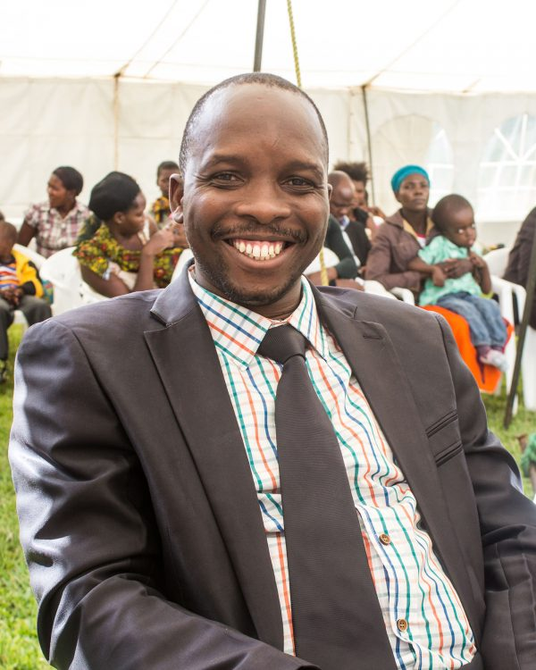 Doctor Kalombo Kazadi smiles for the camera