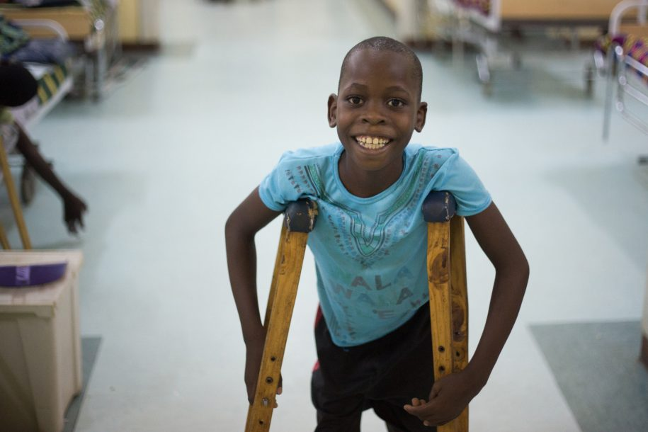 Promise has been in the hospital on and off for over a year, but he still remains his smiley self!