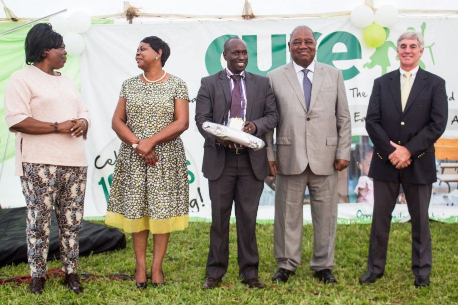 Our first Executive Director, Mr Peter Kyalo, was honored for his long service to Beit-Cure Hospital.