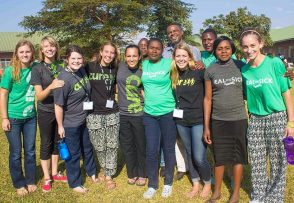 Our 2015 CURE U Zambia team and a few of the incredible people who work at the Beit CURE Hospital.