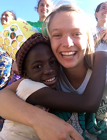 "One of our friends from Zambia: Annie! For a couple of days, Annie and some other kids after VBS found my tent while we were resting for some time in the afternoon and stood outside calling for me, They would say, ""Tara! My friend, Tara!"" My heart burst at these sweet friends of mine who wanted to hang out! I miss them dearly."