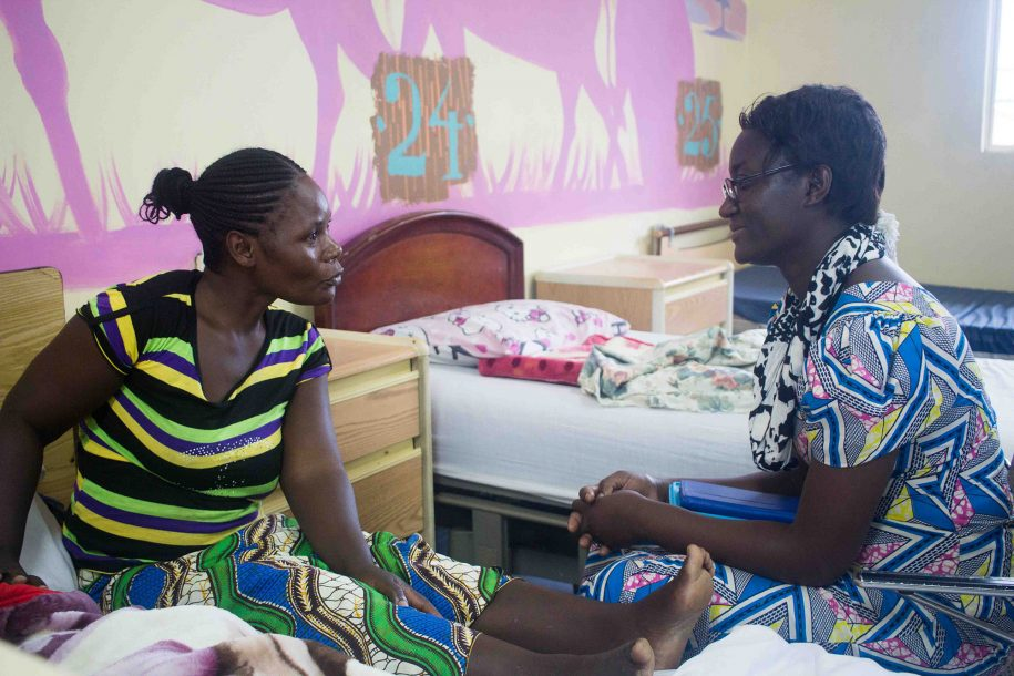 One of the best things about this hospital is that Reverand Na is always there to offer spiritual guidance to our patients' mothers.
