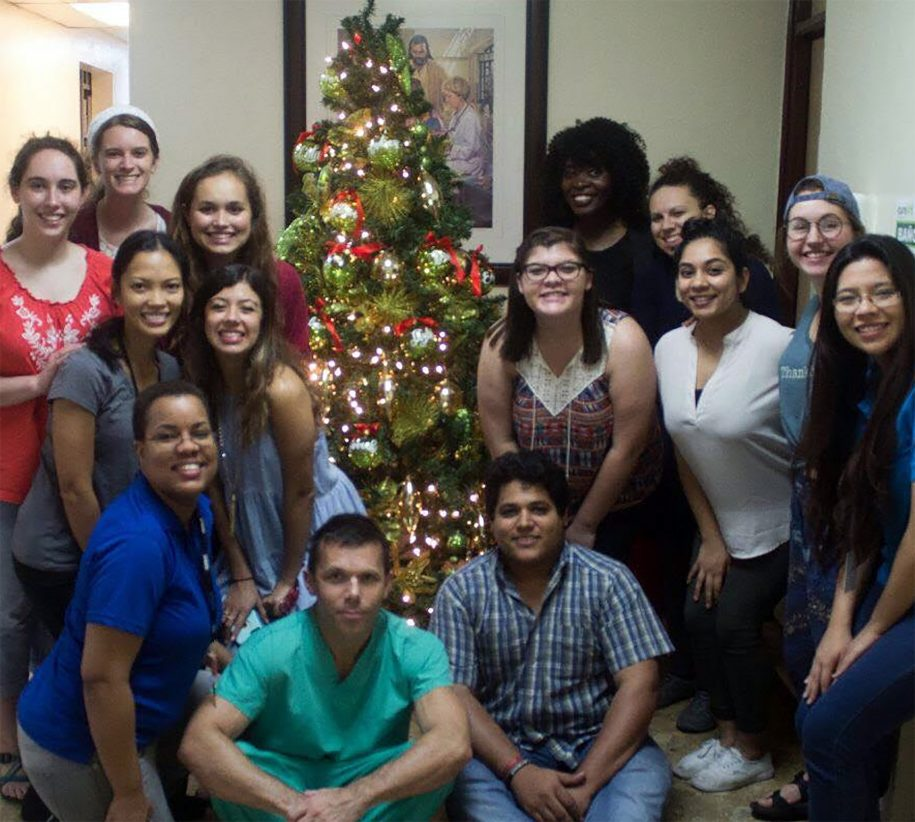 Our team got to experience some holiday fun with they staff of the hospital!