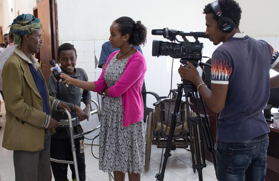 Tigabu's father, Dereje, was giving a interview to the Amhara Channel, sharing their experience thus far with CURE Ethiopia and Tigabu's healing!