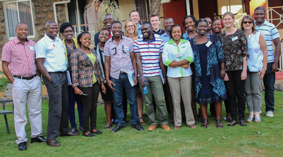 Faculty and CURE Clubfoot participants pose for a victory picture after successfully completing the Africa Clubfoot Training Project (ACT) in Nairobi, Kenya.
