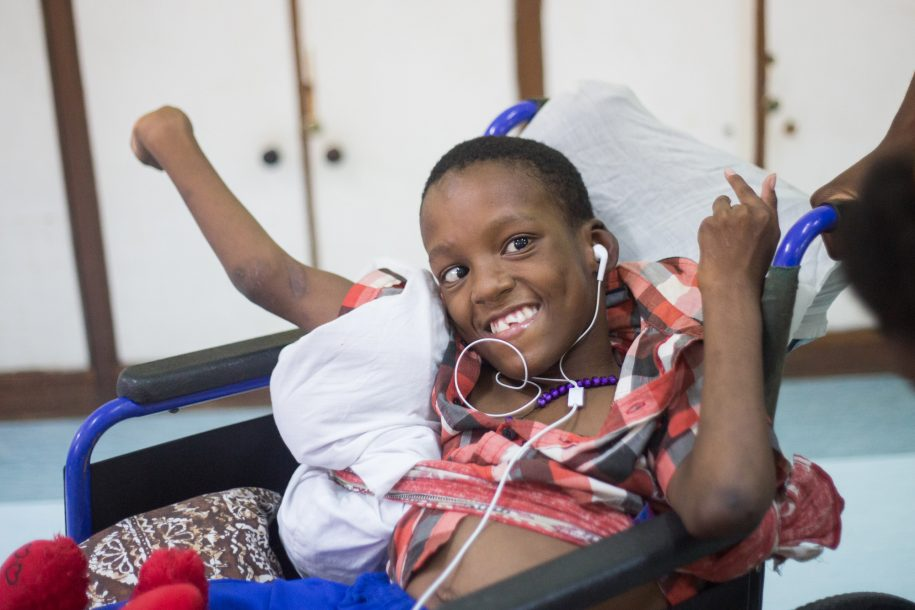 "Tupali has severe cerebral palsy and needs help to move, but he is quite bright and speaks English really well! He's always greeting all the doctors during ward rounds with a smile and a ""Good morning!"""