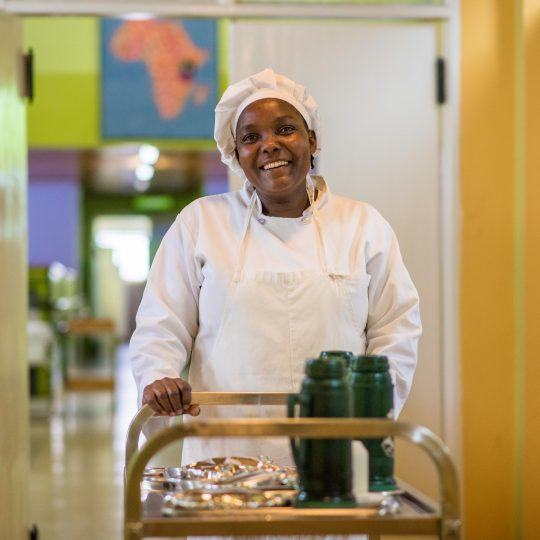 Eunice Nzisa Michael, Kitchen Co-Worker