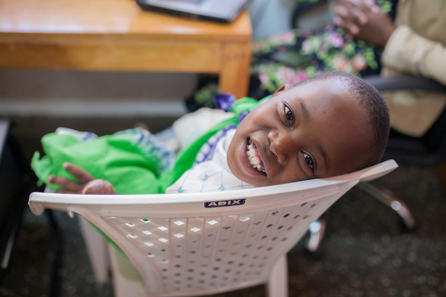 Mwanzia gives us one of his fantastic smiles as he spends time in the playroom.