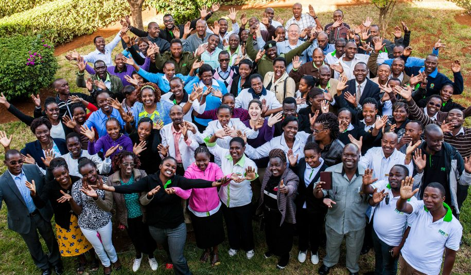 The CURE Kenya family at its best; one happy big family.