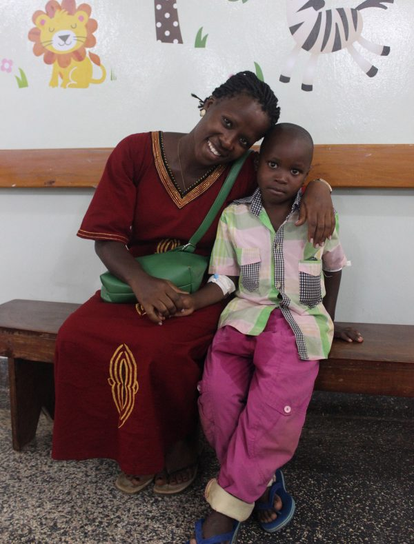 Catherine just completed University. She has spina bifida. She came to CURE Hospital and gave her testimony to mothers. She also met with Kalulu, our favorite Kid this week who has also just had surgery for spina bifida.