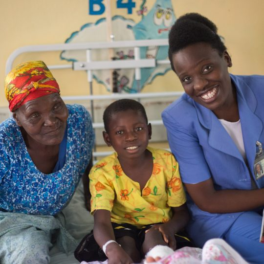 Gospel's grandmother, Aleta, with Nurse Mukonde