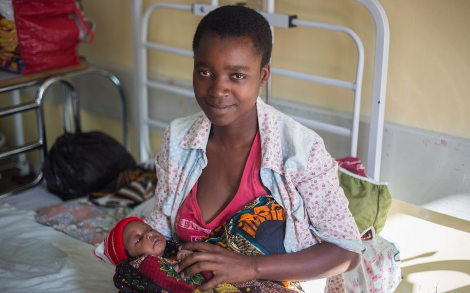 Chifunilo and his mom are new at CURE Malawi and will be coming in regularly for clubfoot casting!