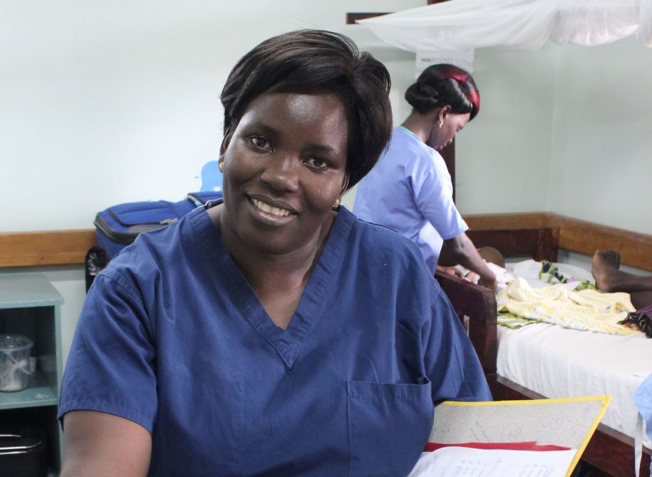 "When she saw us with cameras in the ward, Nurse Helen Titin said, ""You come and take my picture!!"""