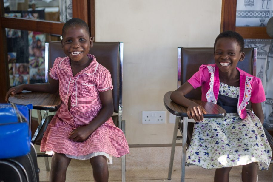 Praise and Alinafe are both waiting in physio to get a ride to Lilongwe, so they can have AFOs for their feet!