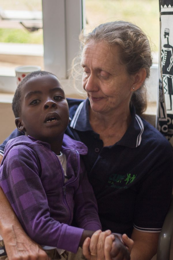 Physiotherapist Jo has been volunteering at CURE Malawi and working with cerebral palsy children for a long time now. She has been living and working with children in Africa for even longer than that. She has a huge heart for the kids and we're sad that she's going back to the UK, but will be praying that God blesses the work of her hands there, too.