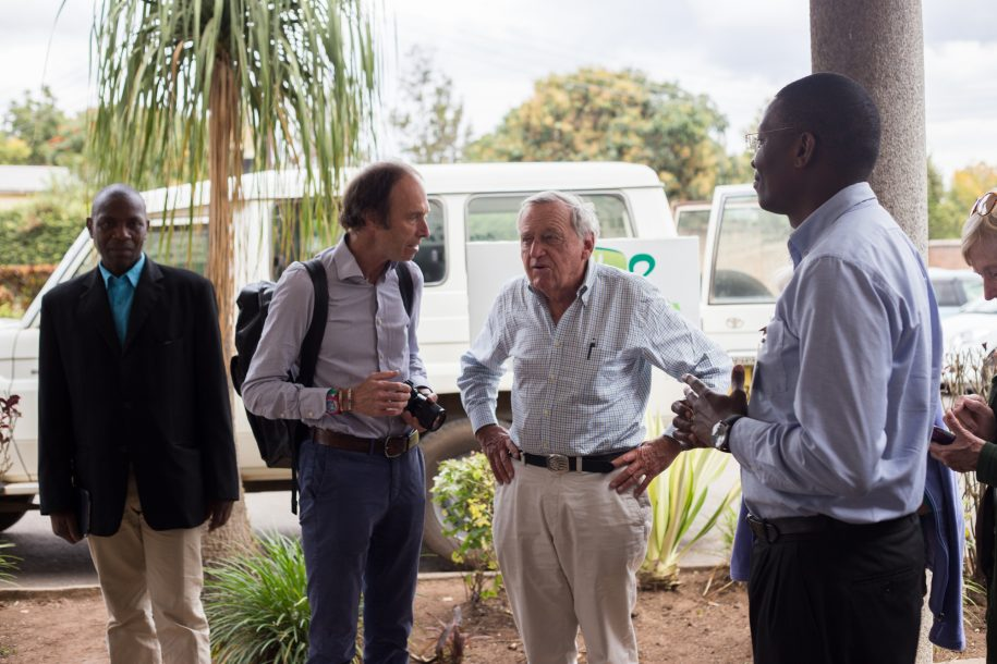 Mr. Wyss, a Swiss businessman and philanthropist, visited several hospitals in Malawi, including CURE, to learn more about the AO Alliance Foundation, which works on fracture care here in Malawi.
