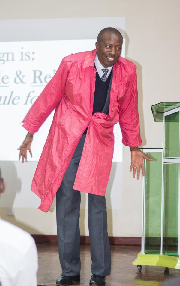 """...but sometimes we fail when we do not button the raincoat well. We want to button up quickly and get done with it. We alter the design, so it looks awkwardly off. This applies also to the Bible. We do not want to use God's manual which has every single detail about how we should live everyday."" - Rev. Justus Mutuku."