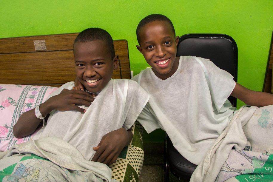 Zenebe and Bereket live in a children's home. They have been following up with us for their cast treatments and now they are at the CURE hospital together having their surgeries. They are so happy they get to be neighbors!