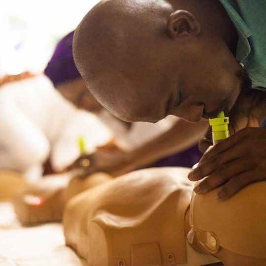 CPR training at CURE Niger