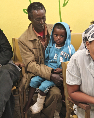 Photo of Tsege after surgery