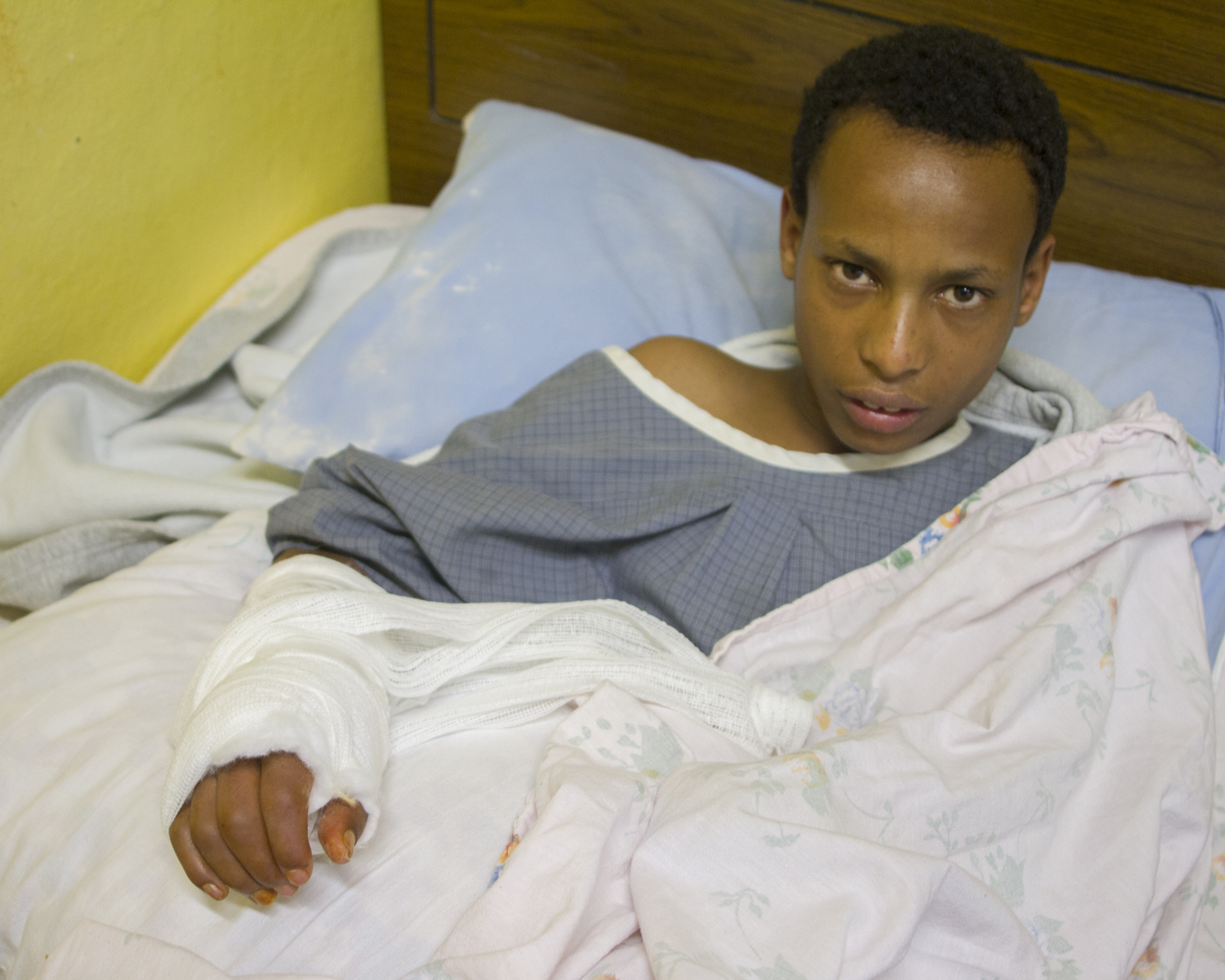 Photo of Andualem after treatment